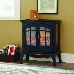 electric fireplace panoramic stove