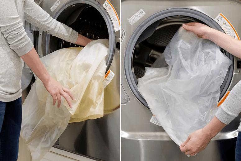 machine washing shower curtains