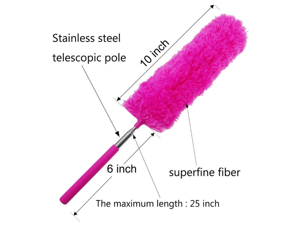 Diagram of M-jump Telescoping Microfiber Duster Extendable
