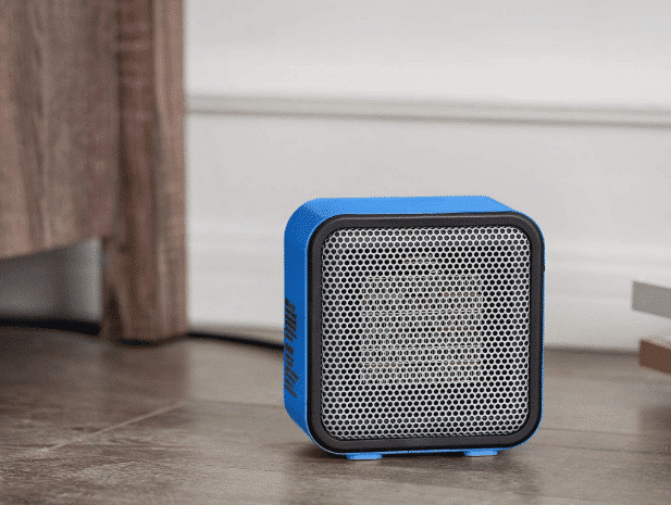 Picture of a blue space heater