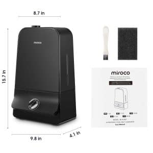 image of Miroco Ultrasonic Cool Mist Humidifier diagram