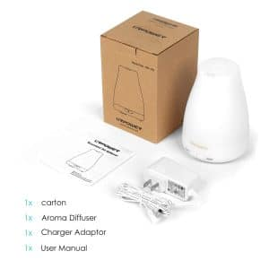image of URPOWER 2nd Version Essential Oil Diffuser Aroma Essential Oil Cool Mist Humidifier diagram