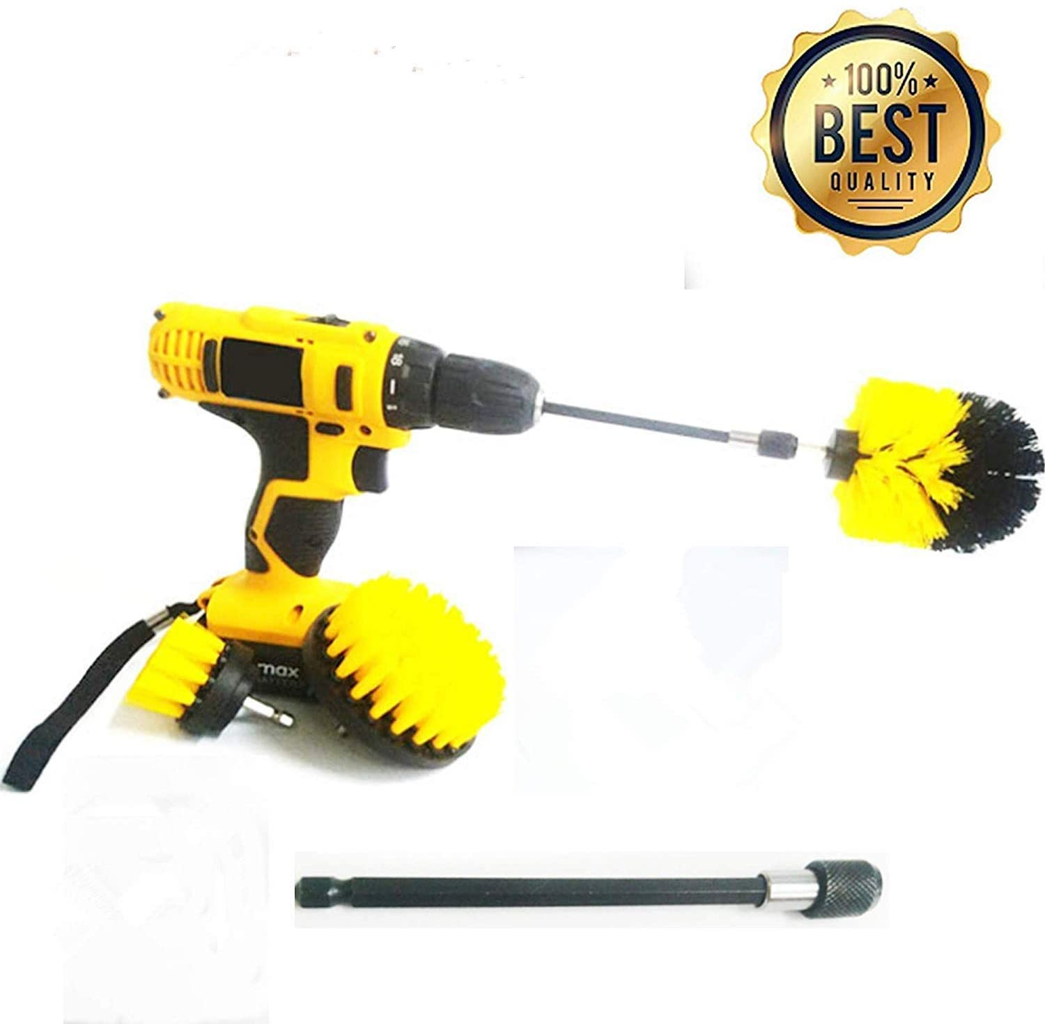 Product image of 4 Piece Drill Brush Power Scrubber Cleaning Brush