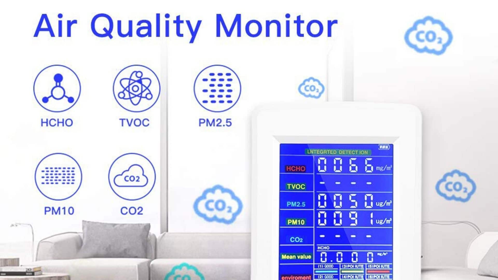 diagram of biaoling air quality monitor features