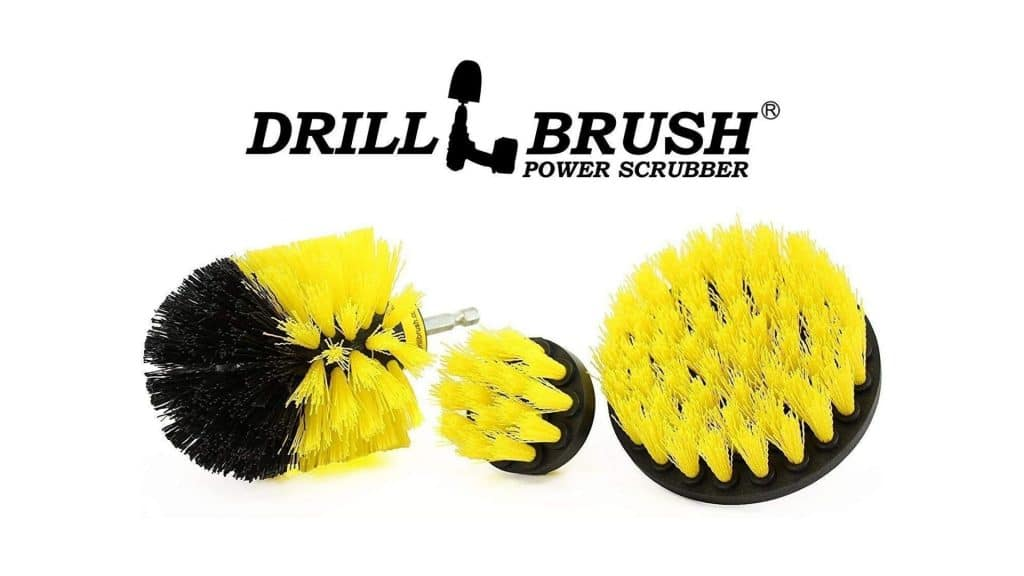 picture of drill brush for bathroom surfaces tub drill shower tile and grout