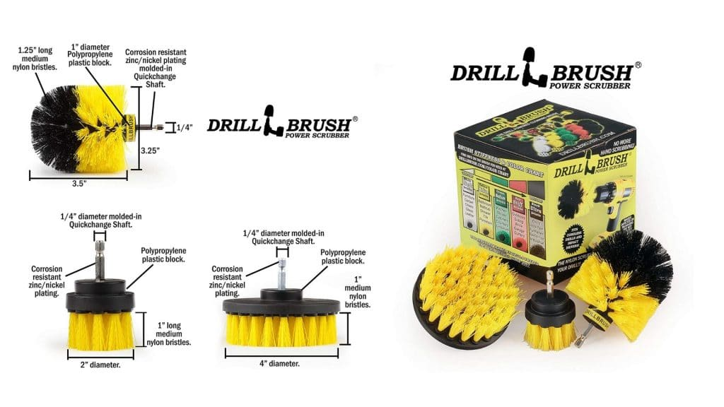 diagram of drill brush bathroom surfaces all purpose cleaning kit diagram