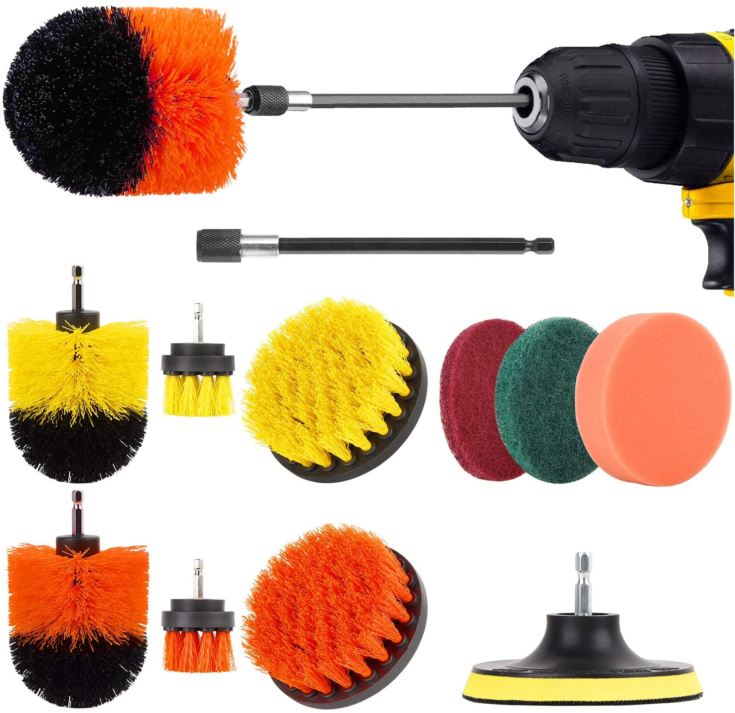 Product image of Herrfilk Drill Brush Attachment Set