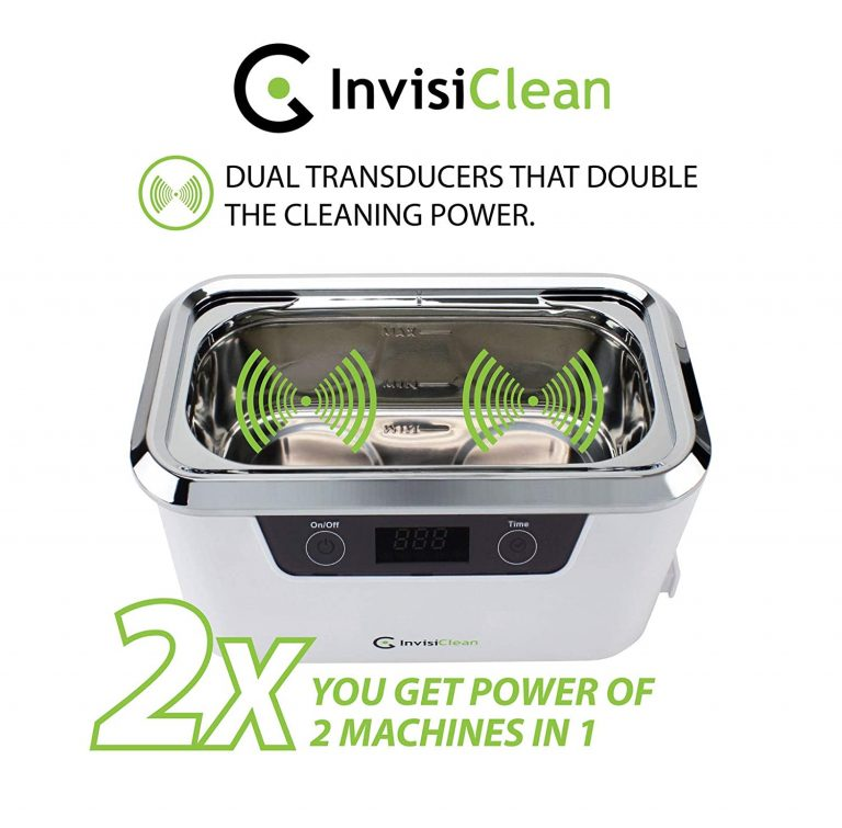 product image of InvisiClean Professional Ultrasonic Cleaner Machin Dual Tranducers
