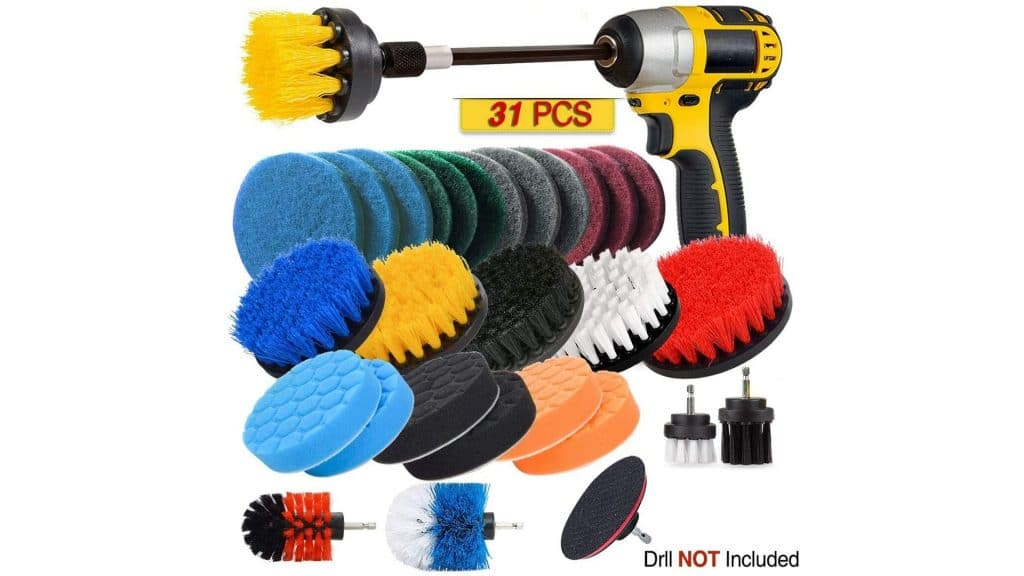 Product image of jUSONEY Drill Brush Scrub Pads 31 Piece Power Scrubber Cleaning Kit