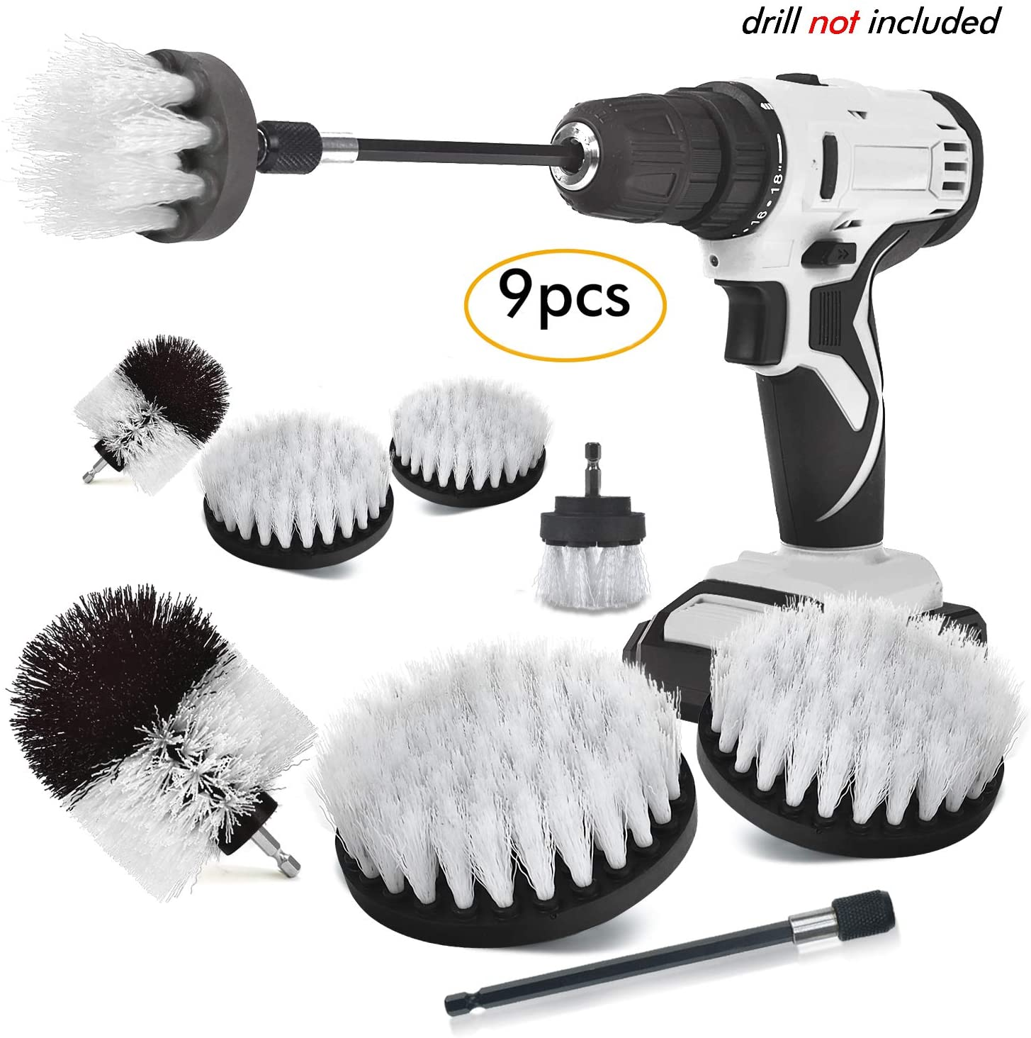 product image of SHIELDPRO Brush Drill Attachment Set