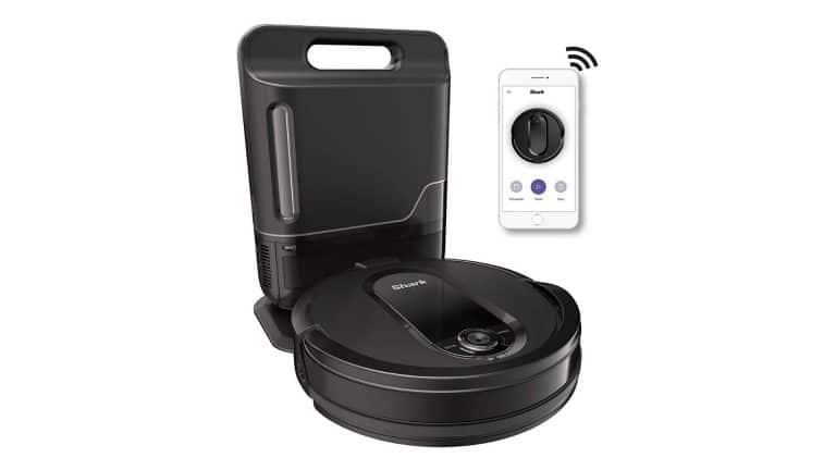 product image of Shark IQ Self-Empty Base Robot Vacuum, Black