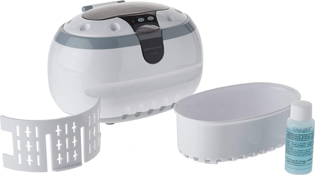 product image of Sonic Wave CD-2800 Ultrasonic Jewelry & Eyeglass Cleaner (White/Gray) individual parts