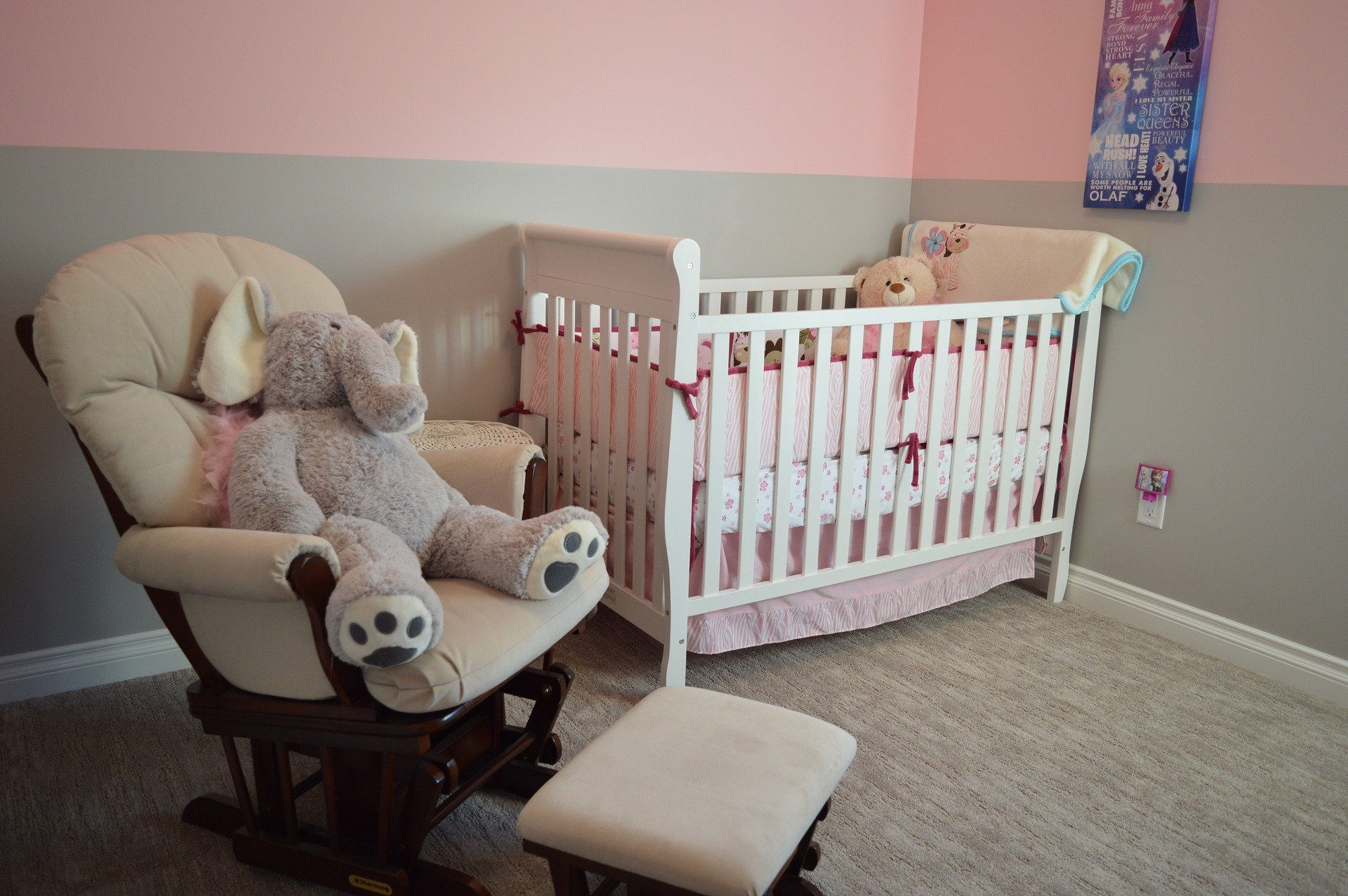 picture of pink baby nursery