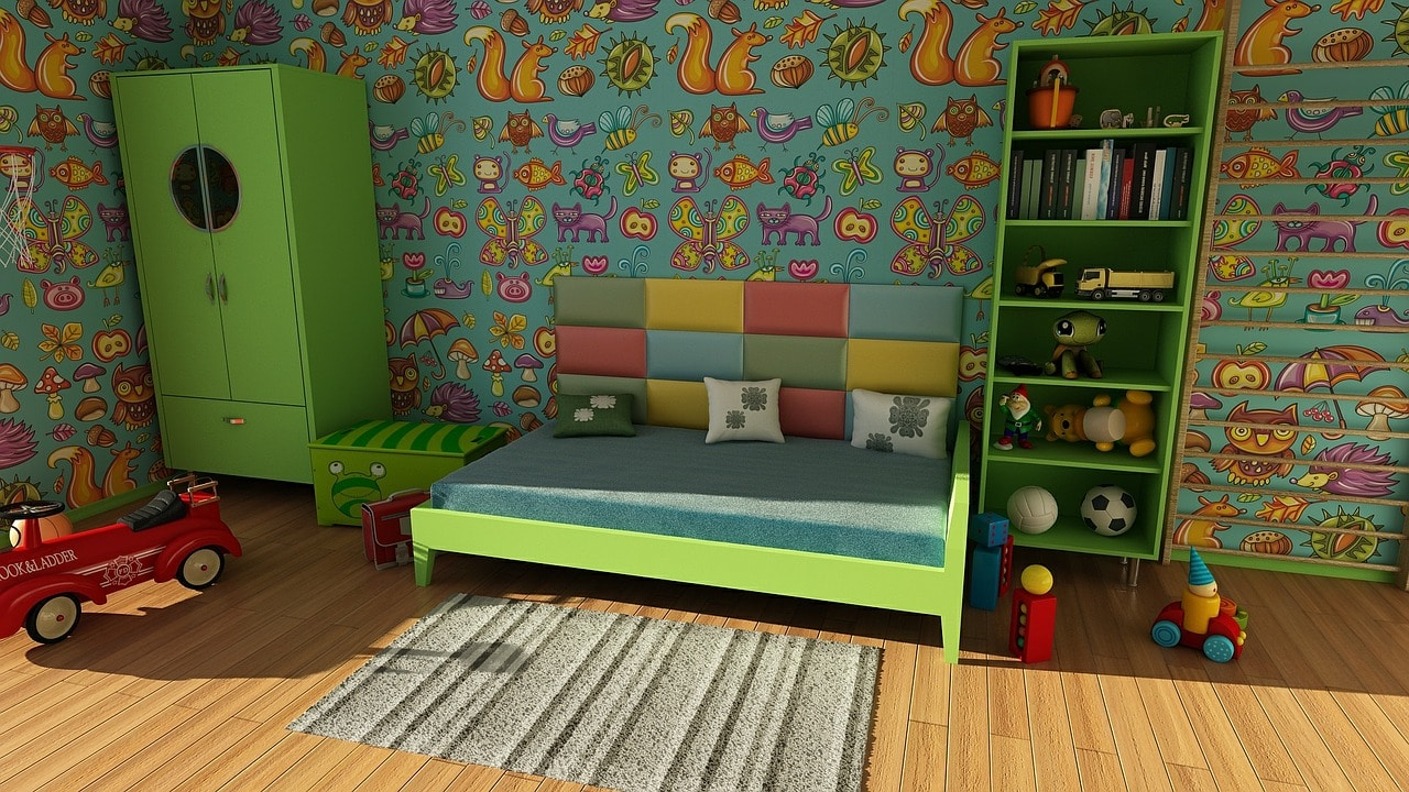 picture of green kids room
